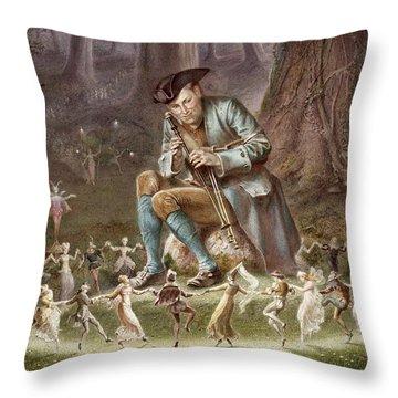 Fairy Dance Throw Pillow by William Holmes Sullivan