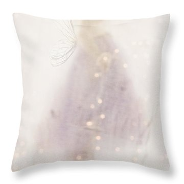 Fairy Lights Throw Pillow by Stephanie Frey