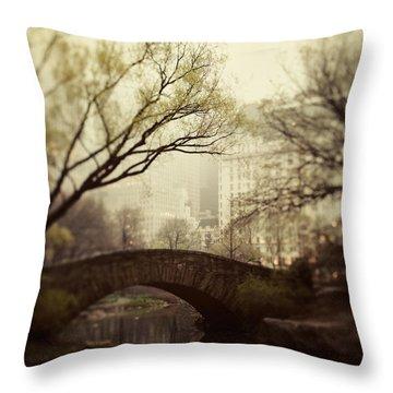 Fairy Of New York Throw Pillow by Irene Suchocki