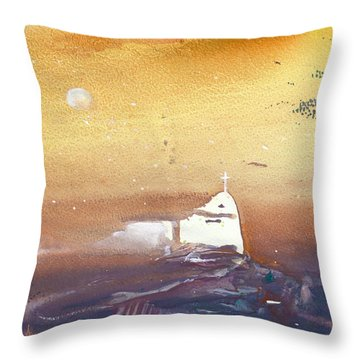 Faith Throw Pillow by Miki De Goodaboom