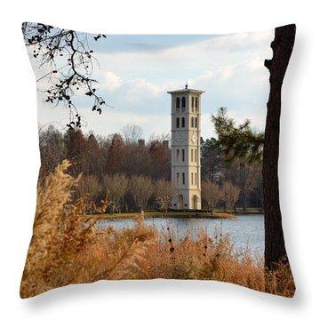 Fall At Furman Throw Pillow by Corinne Rhode