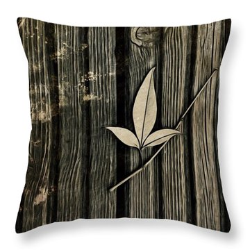 Fallen Leaf Throw Pillow by John Edwards