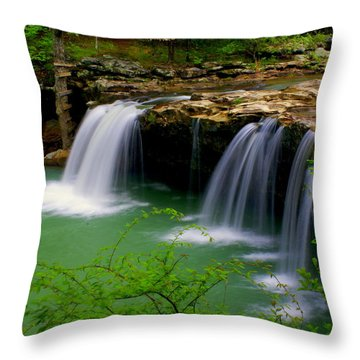 Falling Water Falls Throw Pillow by Marty Koch