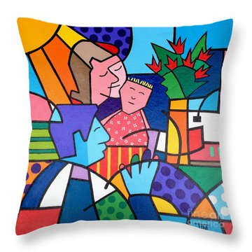 Families Are Forever Throw Pillow by Tim Ross