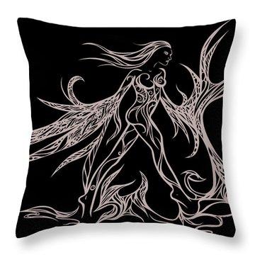 Fancy Flight  Throw Pillow by Jamie Lynn