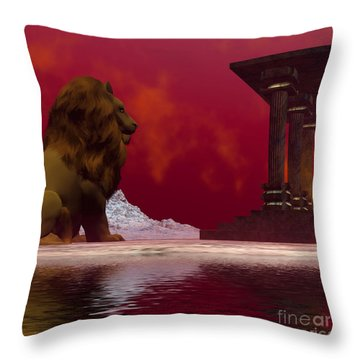 Fantasisms Throw Pillow by Corey Ford
