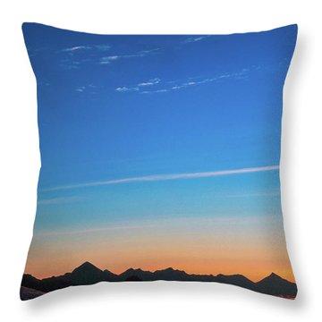 Far Mountains Throw Pillow by Konstantin Dikovsky