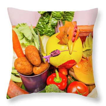 Farm Fresh Produce Throw Pillow by Jorgo Photography - Wall Art Gallery