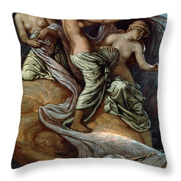 Fates Gathering In Stars Throw Pillow by Granger