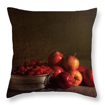 Feast Of Fruits Throw Pillow by Tom Mc Nemar