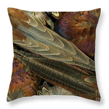 Featherdance Throw Pillow by Christian Slanec