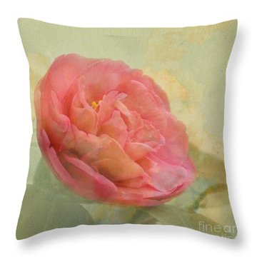 February Camellia Throw Pillow by Cindy Garber Iverson