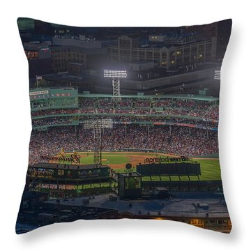 Fenway Park Throw Pillow by Bryan Xavier