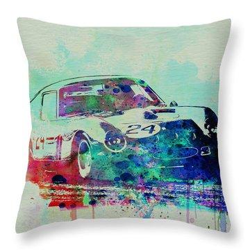 Ferrari 250 Gtb Racing Throw Pillow by Naxart Studio