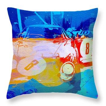 Ferrari Pit Stop Throw Pillow by Naxart Studio