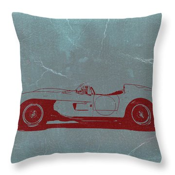 Ferrari Testa Rosa Throw Pillow by Naxart Studio
