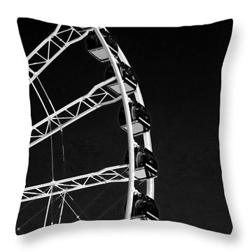 Ferris Wheel At Navy Pier, Chicago No. 1-2 Throw Pillow by Sandy Taylor