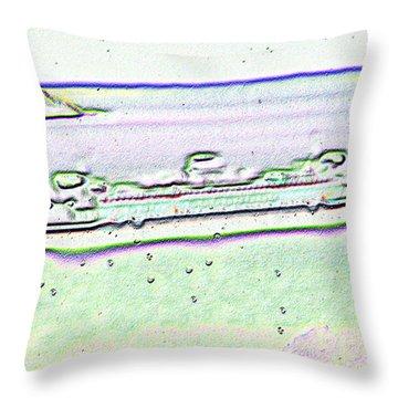 Ferry In The Rain Throw Pillow by Tim Allen