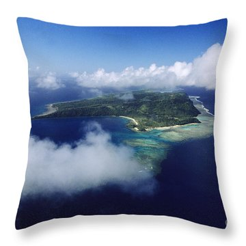 Fiji Aerial Throw Pillow by Larry Dale Gordon - Printscapes