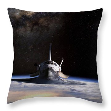 Final Frontier Throw Pillow by Peter Chilelli