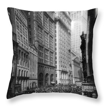 Financial Center, C1920 Throw Pillow by Granger