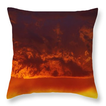 Fire Clouds Throw Pillow by Michal Boubin