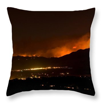 Fire In The Mountains No Lightning In The Air  Throw Pillow by James BO  Insogna