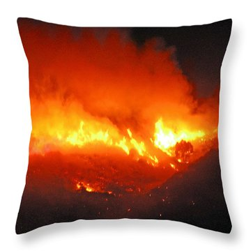 Fire On Signal Hill Throw Pillow by Michael Durst