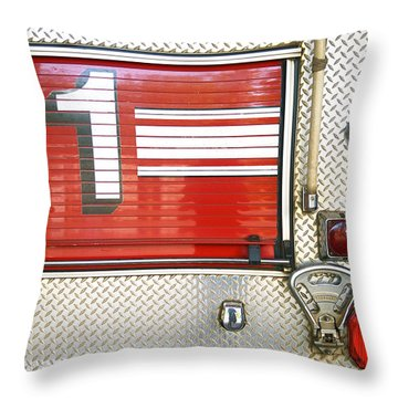 Firetruck Detail I Throw Pillow by Kicka Witte - Printscapes