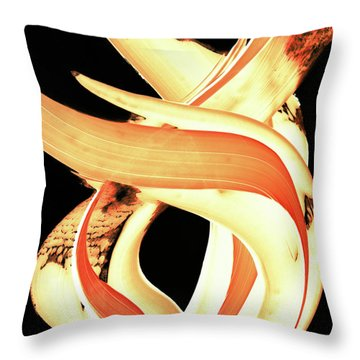 Firewater 3 Throw Pillow by Sharon Cummings