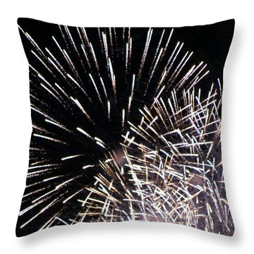 Firework Within Fireworks Throw Pillow by Jacqueline Russell