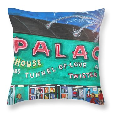 Fireworks At The Palace Throw Pillow by Patricia Arroyo