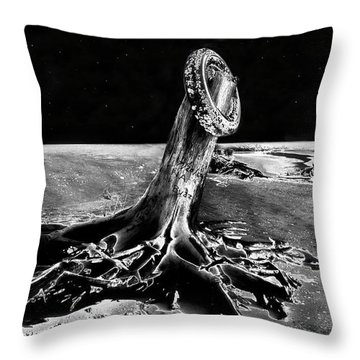 First Men On The Moon Throw Pillow by David Lee Thompson