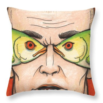 Fish Eyes Throw Pillow by Amy S Turner
