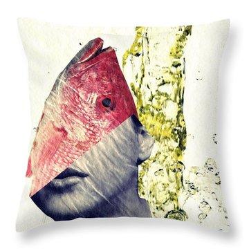 Fishhead Throw Pillow by Sarah Loft
