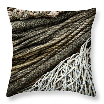 Fishing Nets Throw Pillow by Carol Leigh