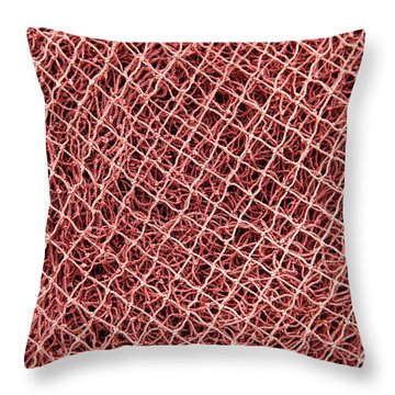 Fishing Nets Throw Pillow by Gaspar Avila