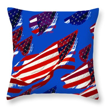 Flags American Throw Pillow by David Lee Thompson