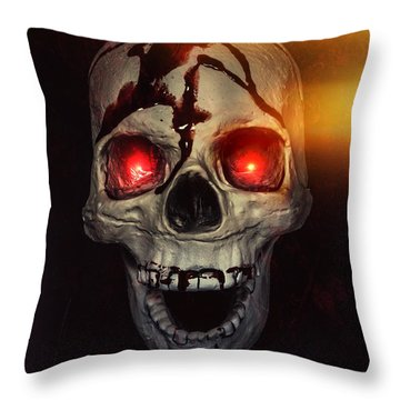 Flame Eyes Throw Pillow by Joana Kruse