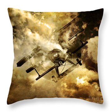 Flight Path Of Disaster Throw Pillow by Jorgo Photography - Wall Art Gallery