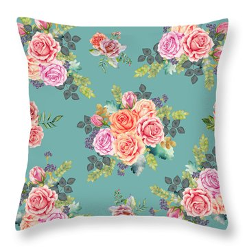 Floral Pattern 2 Throw Pillow by Stanley Wong