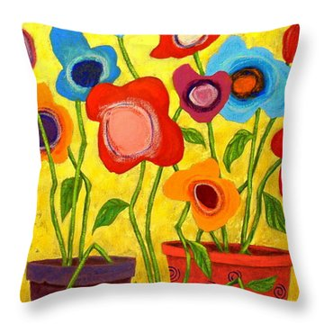 Floralicious Throw Pillow by John Blake