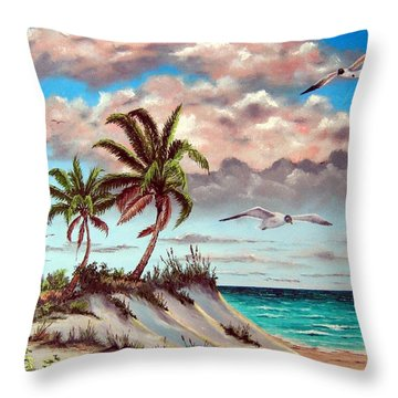 Florida Gulf Dune Throw Pillow by Riley Geddings