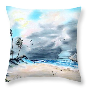 Florida Tempest Throw Pillow by Riley Geddings