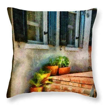 Flower - Plants - The Stoop  Throw Pillow by Mike Savad