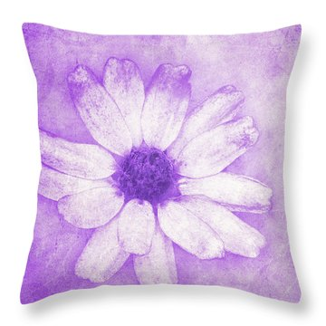 Flower Art II Throw Pillow by Angela Doelling AD DESIGN Photo and PhotoArt