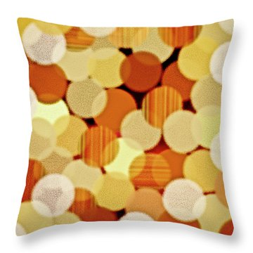 Throw Pillow featuring the painting Fluffy Dots by Frank Tschakert