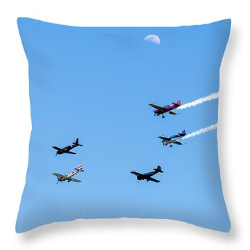 Fly Me To The Moon Throw Pillow by Marco Oliveira