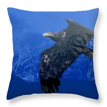 Fly Wild Fly Free Throw Pillow by Sharon Talson