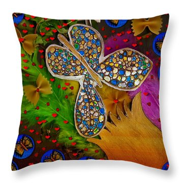 Fly With Me In Love Throw Pillow by Pepita Selles
